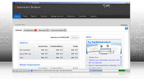 Access the Account Management interface to manage your funds and view reports